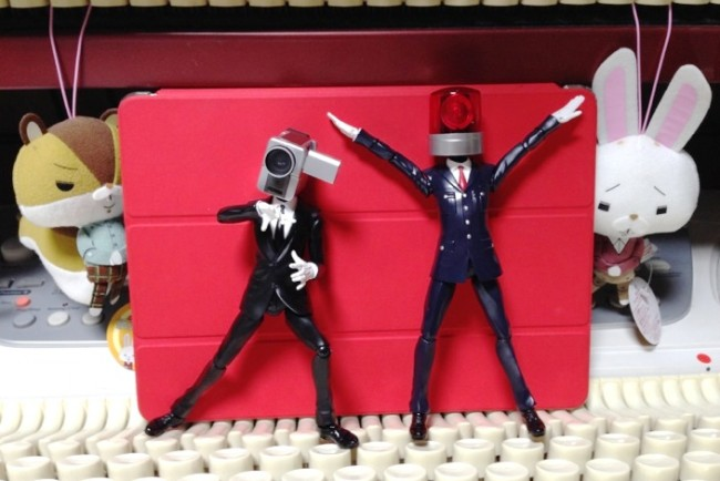 カメラ男とパトランプ男