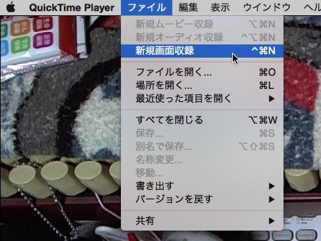 QuickTime Playerムービー収録